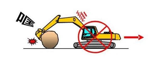 大型物体损害挖掘机配件