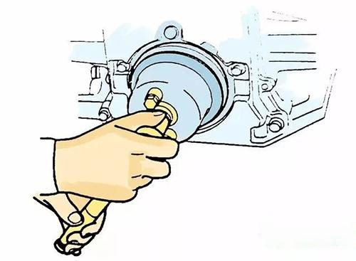 安装挖掘机配件前油封