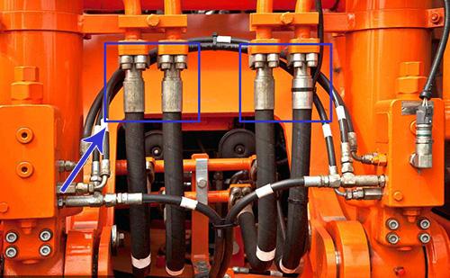 挖掘机配件油管
